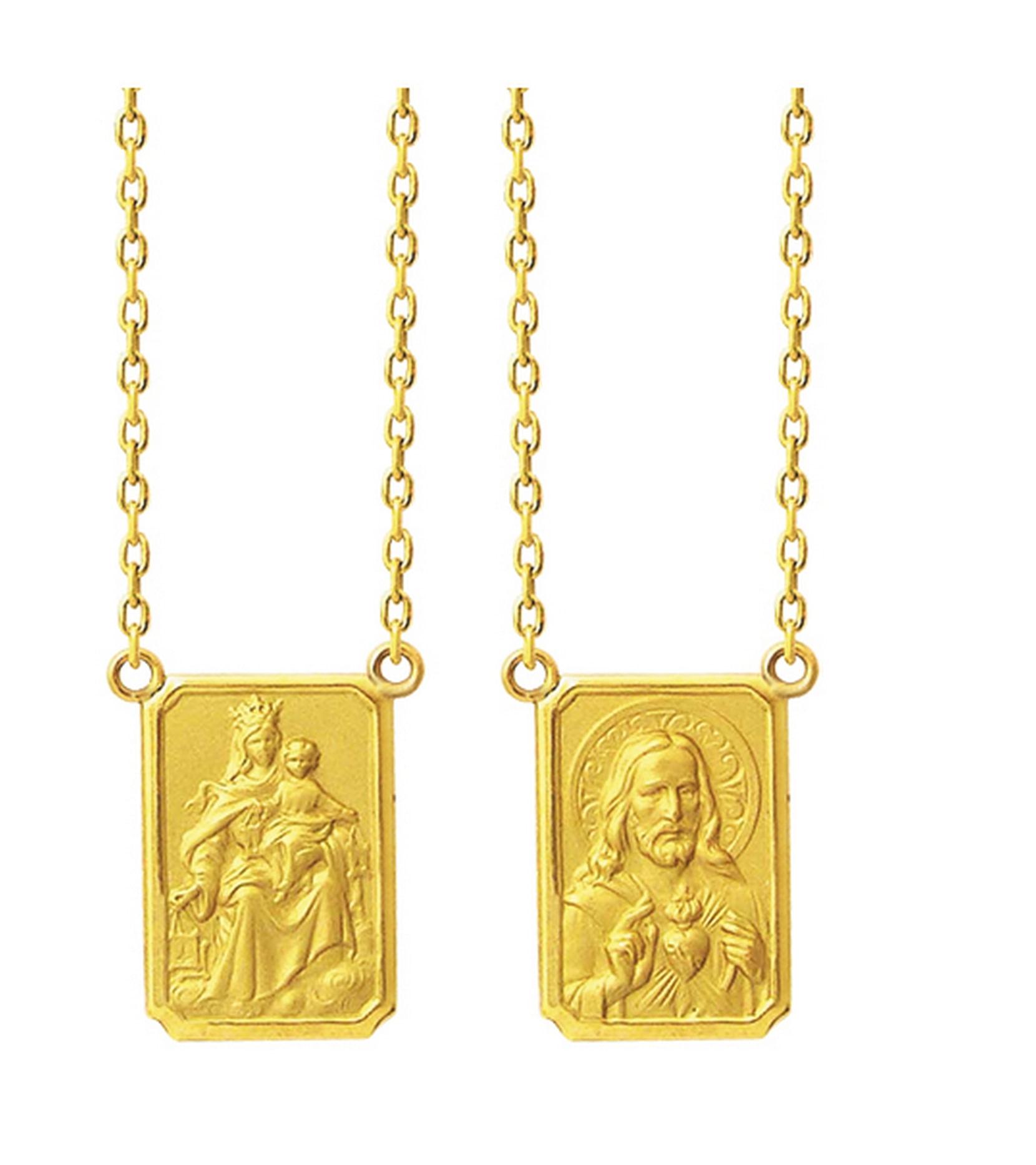 1a2224bcab5f0 Escapulário de Ouro - Feldens Jóias