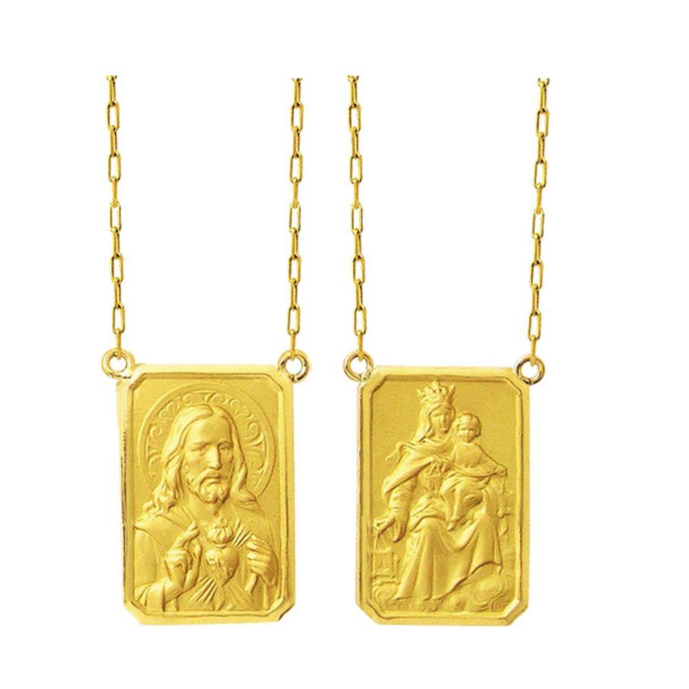 c471ec12257f1 Escapulário de Ouro Grande - Feldens Joias