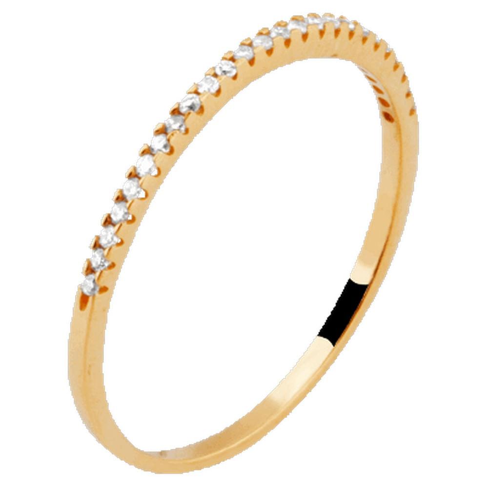 Meia Aliança de Ouro 25 Diamantes 0,5 pontos - Feldens Joias 265f51fd42