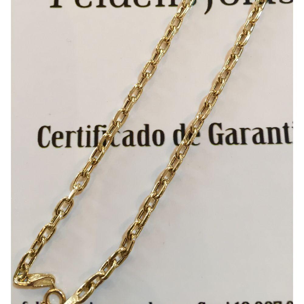 1182c804b76 Corrente Cadeado de Ouro 3 mm - Feldens Joias